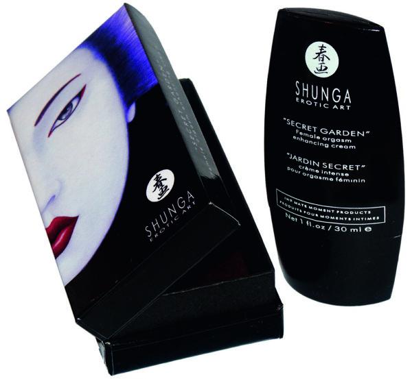 Crème Orgasmique SHUNGA - Jardin Secret, pour le massage intime